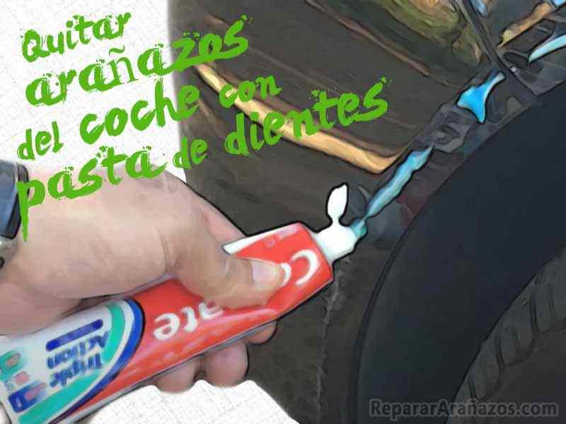 eliminar arañazos coche con pasta de dientes