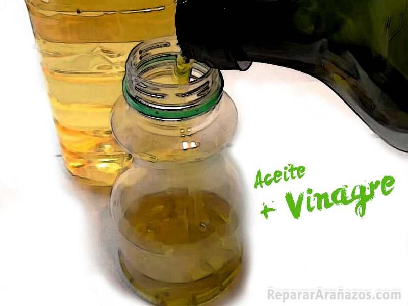 Eliminar arañazos parquet con aceite y vinagre