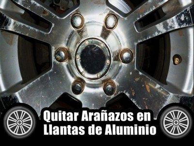 Eliminar arañazos llantas aluminio coche